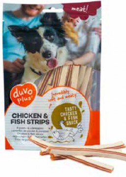 Duvo+ meat! - Chicken & Fish Strips - 80g - Nyhet!