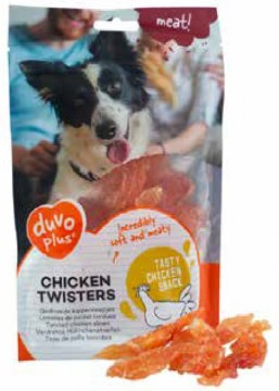 Duvo+ meat! - Chicken Twisters - 80g - Nyhet!