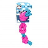 Coockoo Swing - Strong knotted cotton rope - 35cm - Ø15mm - Pink