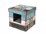 Cat Box Home-Cats-Love - MDF - 35x35x35cm