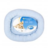 Sheepskin oval bed - 40x45cm - Blue