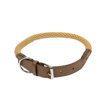 Forest Collar - M-L: 65cm / Ø15mm - 65cm / Ø15mm - Cream - Utgående!