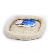 Sheepskin oval bed - 61x50cm - Beige