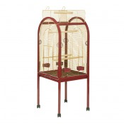 Parrot Cage Junior - 55x55x130cm - Bordeaux