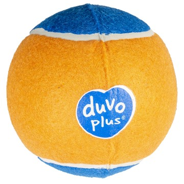 Aktiveringslek Duvo - Tennisboll Super - ø13cm - Orange/Blå - Tyst
