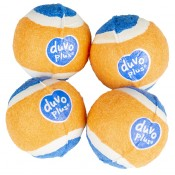 Aktiveringslek Duvo+ - Tennisboll Mini - ø4,2cm - Orange/Blå - 4st - Tyst