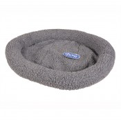 Sheepskin oval bed - 50x35cm - Grey