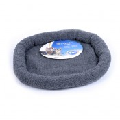 Sheepskin oval bed - 61x50cm - Grey