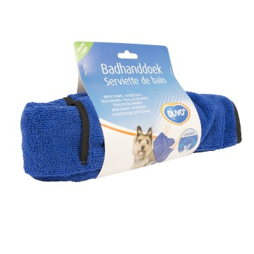 Dog Bath Towel Microfiber - Large - 100x70cm - Blue