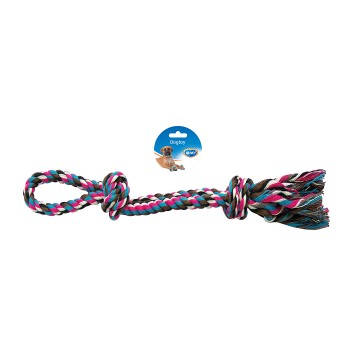Knotted Cotton 2 Knots Double Loop - 50cm
