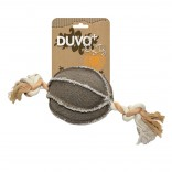 Canvas Ball with Rope - Durable canvas - 22x13cm