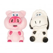 Latex Squeaky Pig and Sheep - 11,5cm - Mix - Utgående!