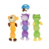 Plush Squeaky Long Body Mix - 18,5x15x8cm - Mixed