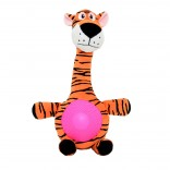 Plush Tiger with Squeaker Belly - Utgående!