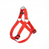 Nylon Step In Harness - S - 40-50cm/15mm - Red