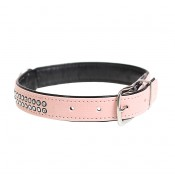 Crystal Chic Leatherette Collar - XS - 18-23cm/14mm - Pink