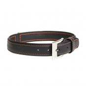 Trendy Leather Collar - XS - 19-24cm/14mm - Black & red