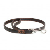 Trendy Leather Leash - ALL - 100cm/14mm - Black & red