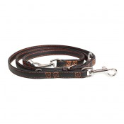 Trendy Leather Duo Leash - ALL - 100-200cm/18mm - Black & red