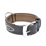 Metal Leather Collar Studs - XXL - 52,5-62,5cm/40mm - Black - Utgående!