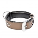 Metal Leather Collar Studs - XL - 47,5-57,5cm/40mm - Grey