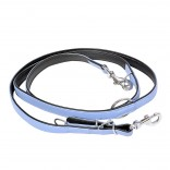 Comfy Leather Duo Leash - ALL - 100-200cm/22mm - Blue