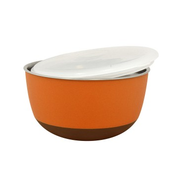 Feeding Bowl with Lid Matte Balance - ø21cm - Orange - 2300ml