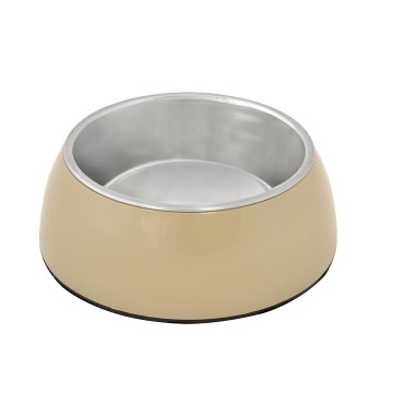 Feeding Bowl + Socket Glossy Uno - ø15,8cm - Taupe - 750ml