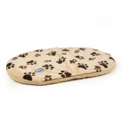 Cushion Oval Paw Print - 44x31x5cm - Beige