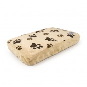 Cushion Rectangular Paw Print - 60x35x10cm - Beige