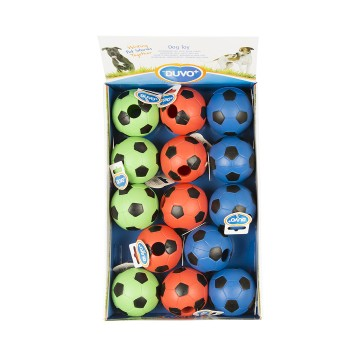 Hundlek Gummi Duvo+ - Rubber football mix - 8cm - Mix - Levereras i Display - Tyst