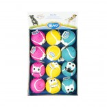 Latex tennis ball smiley mix - 9,8cm - Mix - Levereras i Display