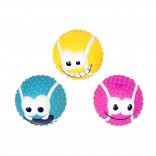Latex tennis ball smiley mix - 8,2cm - Mix - Levereras i Display
