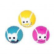 Latex tennis ball smiley mix - 7,2cm - Mix - Levereras i Display