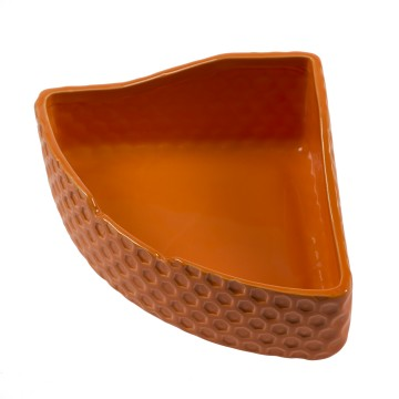 Feeding Bowl Corner Stone Deco Naranja - 23x16x11,5cm - Orange - 700ml - Utgående!