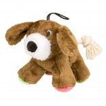 Plush dog with rope tail - 17cm