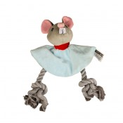 Plush mouse with rope - 18cm