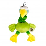 Plush wacky parrot with stretcher - 30cm
