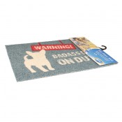 Pet Floor Mat Outdoor Warning - Outdoor use - 60x40cm