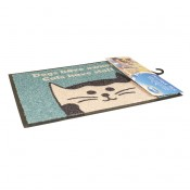 "Pet Floor mat Indoor ""Cats have staff"" - Indoor use - 60x40cm"
