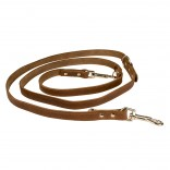 Classy Leather Duo Leash - ALL - 100-200cm/18mm - Brown