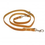 Classy Leather Duo Leash - ALL - 100-200cm/18mm - Cognac