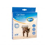 Kattlucka - Cat door - 19x19,7cm - Transparent