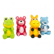 Latex frog/donkey/crocodile/bear - 9x7x14cm - Mix