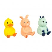 Latex duck/rabit/goat - 6x6x13cm - Mix - Levereras i Display