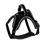 EXPLOR West harness nylon - L - 50-65cm/20mm - Black - Reflective piping