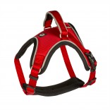 EXPLOR West harness nylon - XXL - 80-100cm/25mm - Red - Reflective piping