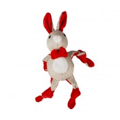 Xmas Plush Knotted Rabbit - 31x14x8cm