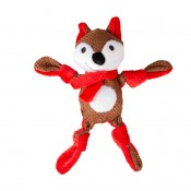 Xmas Plush Knotted Fox - 31x14x8cm