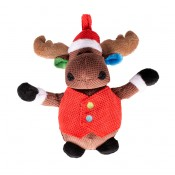 Xmas Plush Reindeer Big Belly - 20x18x8cm
